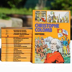 Ensemble de 24 Livres Histoire Juniors Hachette des années 1990