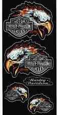 Harley Davidson Motorcycle Decal Sticker Sheet of 5 Eagle