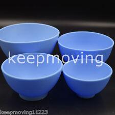 Dental Rubber Flexible Mixing Bowl Dental Lab Equipment Smlxl 4 Sizes Blue