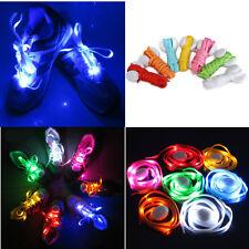 7 Pairs LED Light Up Shoelace Flash Luminous Nylon Shoestring Disco Party Xmas