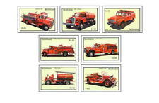 NIC8304 Fire trucks 7 stamps