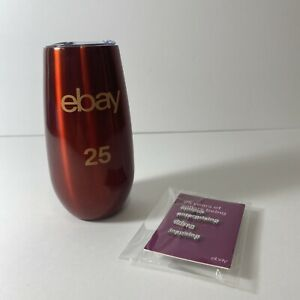 eBay 25th Anniversary 6oz Metal Cup Tumbler Insulated Champagne Flute & 4 Pins