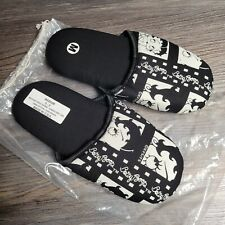 Betty Boop Soft Women's Plush Scuffs Non-Skid Slippers Black White Medium Sz 6-8