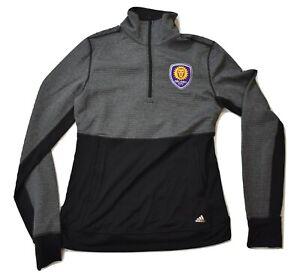 adidas MLS Womens Orlando City SC 1/4 Zip Pullover Climalite Jacket New
