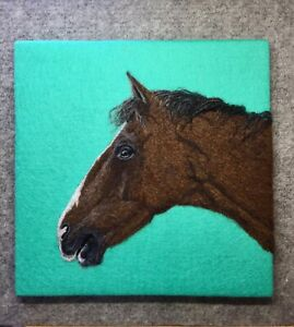Horse Needle Felted Picture