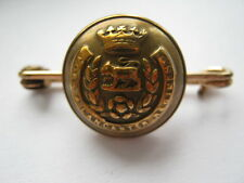 York and Lancaster Regt sweetheart brooch button on rolled gold pin