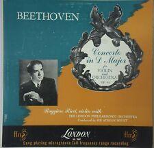 RUGGIERO RICCI Beethoven Concerto In D Violin 1952 LONDON LL 562 VG+
