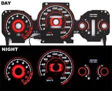 96-00 EK Honda Civic EX Si GLi Glow Gauge TYPE-R RED Reverse AT KMH BLACK Gauges