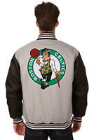 OFFICIAL NBA BOSTON CELTICS JH DESIGN POLY TWILL JACKET BNWT P03 BSC7 GRY-BLK