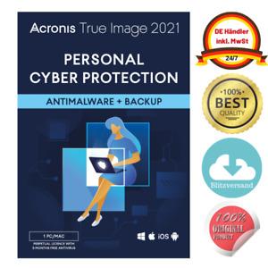 Acronis True Image 2021 | 1 Gerät Dauerlizenz NEU | WIN/MAC | BLITZVERSAND✅ DE