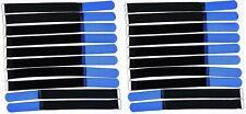 20 x Klettband Kabelbinder 30 cm x 25 mm blau Klettbänder Kabelklett Metallöse