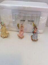 Set Of 3 Illuminated Ornaments Bradford Edition Wings Of Enlightenment W Coa2002