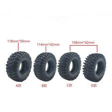 "4pcs 1.9"" Rock Crawler Rubber Tires Tyre For SCX10 90046 D90 TRX-4 Axial RC4WD"