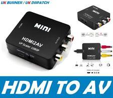HDMI to AV Converter Composite RCA CVBS 1080P HDMI2AV Adapter Video PS3 DVD HDTV