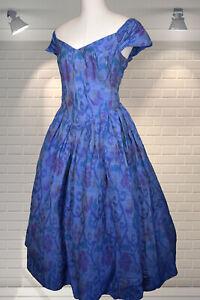 Vintage 80s Victorian Edwardian BRIDGERTON Style Raw Silk Evening Dress MONSOON