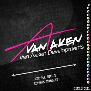 Van Aaken Developments 2 Tone Sticker - Many Sizes Colours - AgriSpec Car Decal