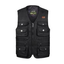 Hunting fishing vest multi pockets safari waistcoat  photo jacket zipper