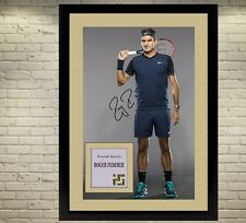Roger Federer signed autographed Tennis Memorabilia A Framed photo picture