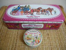 anciennes boîtes tôle Mackintosh's Quality street déco rétro old tin candy boxes