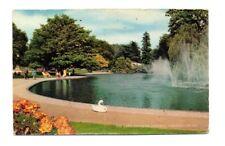 Warwickshire - Leamington Spa, Jephson Gardens, The Lake - Postcard Franked 1982