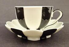 Art Deco Augarten Demitasse or Mocha Cup & Saucer, Black