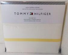 "NEW Tommy Hilfiger KING ""High Sierra Stripe"" Sheet Set Ivory/Yellow MSRP $152"
