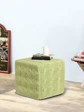 Hand Thermocol Square Sitting Ottoman Pouffe for Living Room Drawing Room