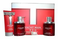 Yacht Man Red 4 Pcs Set 3.4oz. Edt Spray For Men New In Box