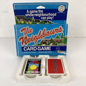 Vintage 1988 NEIGHBOURS TV Series Happy Families Style Card Game 2-6 Players 9+