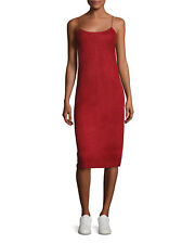 1e7d8a9999 Theory Telson S Metises Suede Midi Dress Color Dark Crimson Size 2