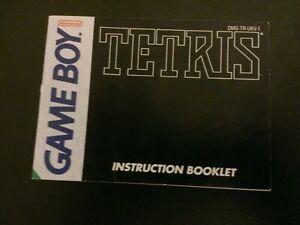 Nintendo Tetris Gameboy Instruction Booklet Only No Game