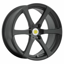 Package 4) 15x5.5 Genius Newton ET 25 Black 3x112 Wheels Rims