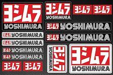YOSHIMURA Exhaust Adesivi Decalcomanie 30x20cm vinile resistente al calore con Extra Protezione