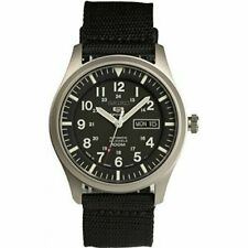 Seiko 5 Sports Automatic Made in Japan Black Dial Nylon Strap Watch Snzg15j1 Men's