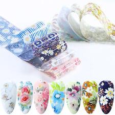 10 Pcs 20X4 cm Flower Daisy Nail Art Foil Sticker Transfer Film Manicure Diy