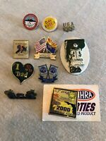 Assorted Collectors Pins Military NHRA Dad Vintage Lot Of 10