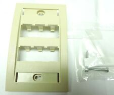PACK OF 10 PANDUIT CFPE6EI Mini-Com FACEPLATE 6 MODULE SPACE Ivory EXECUTIVE