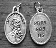 """St Isaac Jogues  / Pray for Us Oxidized Medal (7/8"""" x5/8"""")"""