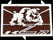 "cache / Grille de radiateur Kawasaki Z750 07>12 ""Bulldog"" + grillage orange"