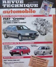 Revue technique FIAT CROMA ESSENCE 1600 / 2000 ie.Turbo RTA 507 1989 205 RALLYE