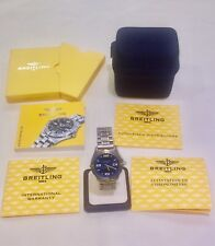 Breitling Aerospace F75362 Two Tone Titanium Blue Dial Quartz Watch w/Papers