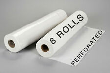 """8 Perforated Disposable Bed Rolls Sheets for Massage Facial Waxing 24"""" x 330'"""