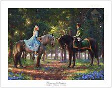 Thomas Kinkade Disney Cinderella Romance Awakens LMT ED Paper 9x12 Artist Proof
