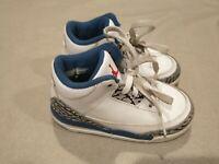 Nike Air Jordans3 Retro BT 832033-104  Toddler Boys Girls Basketball Shoes Sz 7C