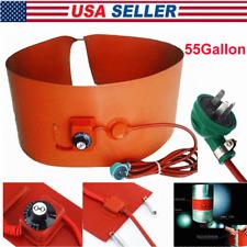 55Gallon 1000W Silicone Band Drum Heater Oil Biodiesel Metal Barrel 110V