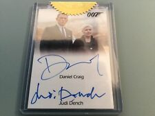 James Bond Archives  - DANIEL CRAIG JUDI DENCH CERTIFIED Double Autograph Card