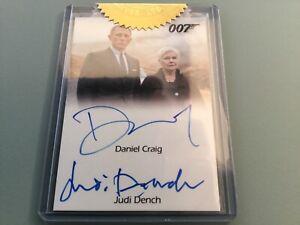 James Bond AUTOGRAPH Card Archives DANIEL CRAIG JUDI DENCH CERTIFIED