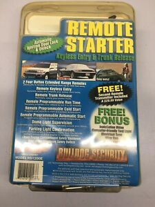 Extended Range Remote Car Starter With Keyless Entry & Trunk Release - 1000 Feet