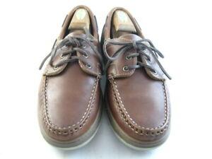 """Allen Edmonds """"EASTPORT"""" Boat Shoes 10 D  Brown     (1029)"""