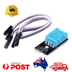 DHT11 Temperature and Humidity Module Sensor + Cable - Fast Shipping